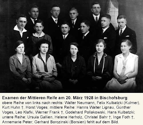 Absolventen der mittleren Reife 1928
