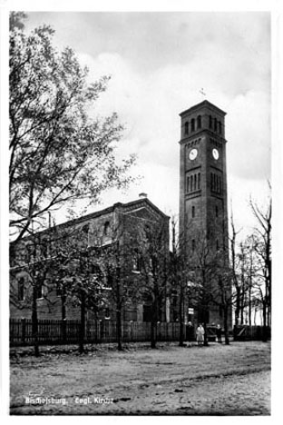 die evangelische Kirche in Bischofsburg